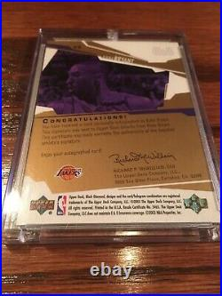 03 Kobe Bryant UD Black Diamond 24 Karat Signatures Autograph GOLD