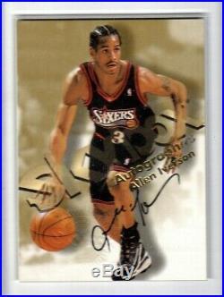 1998-99 Skybox Premium Autographics Allen Iverson Black Auto Autograph MINT