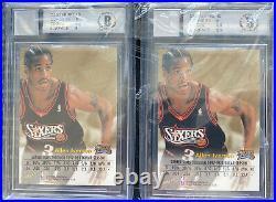 1998-99 Skybox Premium Autographics Allen Iverson Black & Blue Autos BGS 9/10