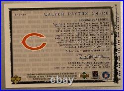 1999 Black Diamond WALTER PAYTON Auto Jersey Autograph #1/34 1/1 Rare SP Bears