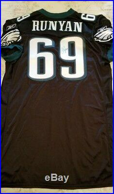 2005 JON RUNYAN Game Issued un used PHILADELPHIA EAGLES JERSEY Signed Autograph