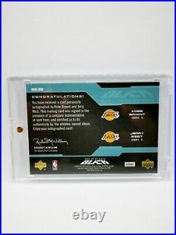 2007/08 UD Black Dual Autographs Kobe Bryant & Jerry West! 1/1 Masterpiece Auto