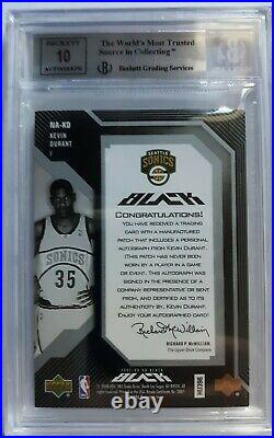 2007 Kevin Durant Black Jersey Patch Auto Rookie Bgs (only 35 Made) (read)