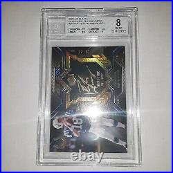 2009 Ud Black Peyton Manning Biography Plaque Auto Gold Ink BGS 8/10 auto #14/25