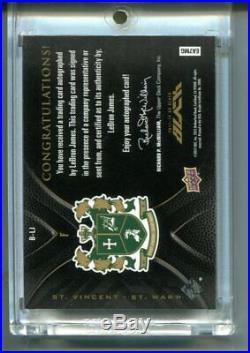 2011-12 Upper Deck UD Black LEBRON JAMES Auto Autograph 08/10