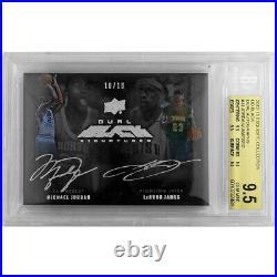 2012-13 Exquisite UD Black Dual Auto Michael Jordan Lebron James 10/10 BGS 9.5