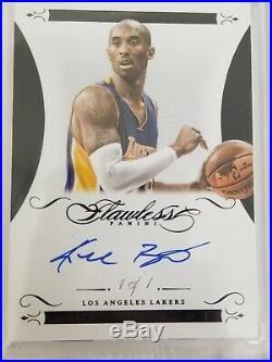 2014/15 Panini Flawless Kobe Bryant Autograph Black 1/1 One of One