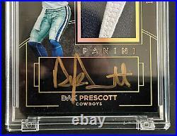 2016 Dak Prescott Black Gold RC Auto Nike Logo Patch Cowboys 1/2 1/1