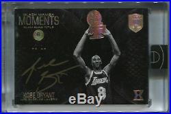 2017 Panini Eminence Black Mamba Moments Autograph Diamond Kobe Bryant 07/10