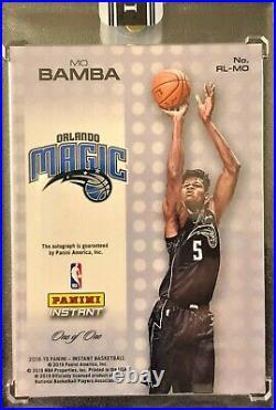 2018-19 Panini MO BAMBA Autograph Rookie Roundball BLACK 1/1 One of One