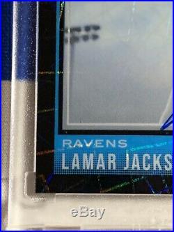 2018 Lamar Jackson Optic Black Velocity Rated Rookie Auto Autograph 09/25 MVP RC