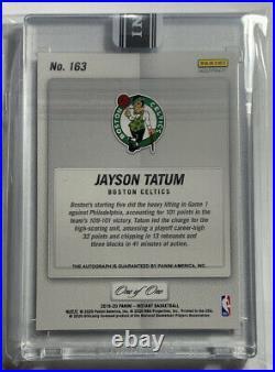 2019-20 Panini Instant Black Jayson Tatum Playoff High Autograph Auto 1/1 Boston
