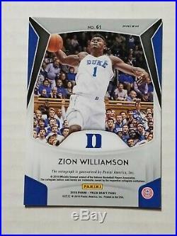 2019-20 Prizm DP Black Auto Autograph SSP Zion Williamson True 1/1 Duke Pelicans