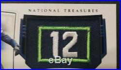 2019 National Treasures DK METCALF Black True Rookie Patch Auto #5/5 Seahawks 12