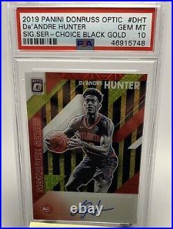 2019 Panini Donruss Optic De'andre Hunter Black Gold Autograph/8 Psa 10 Pop 1