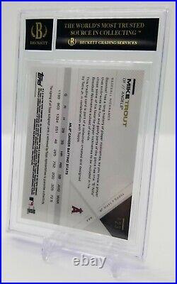 2019 Topps X Tatis Jr Mike Trout Autograph BGS 10 Black Label Pristine Rare 1/1