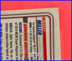 2020 Bowman Chrome Draft BLACK WAVE 1/1 Auto Autograph BOBBY MILLER READ