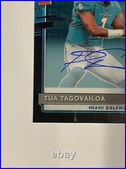 2020 Donruss Optic TUA TAGOVAILOA RC Rated Rookie Black Prizm On Card AUTO /25