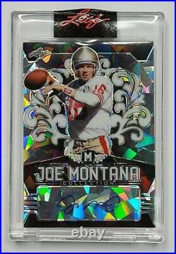 2020 Leaf Joe Montana Collection BLACK CRYSTAL Autograph JOE MONTANA Auto 4/5