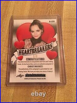 2020 Leaf Pop Century Christina Ricci Heartbreakers Black Crystals Autograph 2/3
