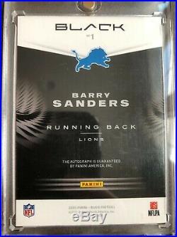 2020 PANINI BLACK Barry Sanders AUTO BRIGHT LIGHTS #01/10