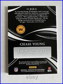 2020 Panini Immaculate CHASE YOUNG Gold Rookie Eye Black Jersey Autograph 10/25