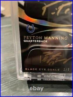2020 Panini Immaculate Peyton Manning & Philip Rivers Auto #1/5 Black Eye Dual