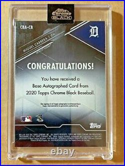 2020 Topps Chrome Black Autographs Green Refractors #CBACB Miguel Cabrera #69/99