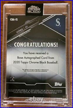 2020 Topps Chrome Black Ichiro Base Autograph CBA-IS