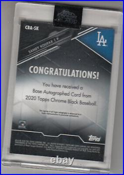 2020 Topps Chrome Black Sandy Koufax Encased Gold Autograph Card 37/50