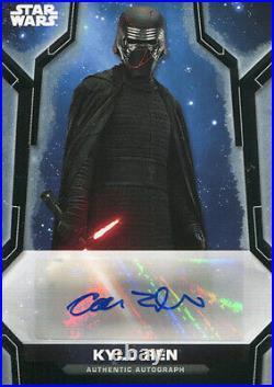 2020 Topps Star Wars Holocron Adam Driver Black Autograph Card A-ad 4/5