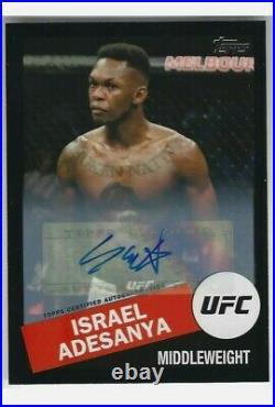 2020 Topps UFC Israel Adesanya Auto 1st Autograph FLAGSHIP Black Rare (#07/25)