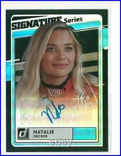 2021 Donruss Natalie Decker Signature Series Autograph 1/1! Black Holo Foil