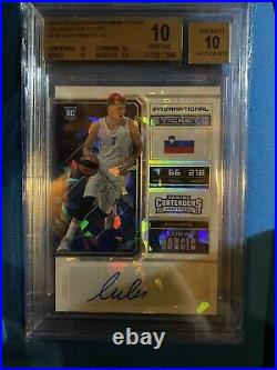 /23 Cracked Ice Luka Doncic 2018 Rookie Autograph BGS 10 10 Auto Black Label. 5
