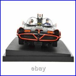 Adam West and Burt Ward Autographed Die-Cast 118 Scale Batman 1966 Batmobile