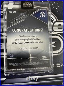 Alex Rodriguez 2020 Topps Chrome Black Encased Base Autograph On Card Auto
