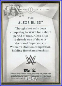 Alexa Bliss 2019 Topps WWE Transcendent Collection Autograph Black 4/5
