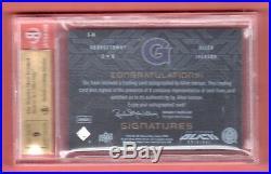 Allen Iverson 2013-14 Ud Black Autograph On Card Auto # /25 Bgs 9.5 Auto 9 Hoyas