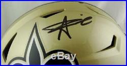 Alvin Kamara Autographed New Orleans Saints F/S SpeedFlex Helmet- JSA W Black