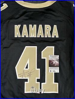 Alvin Kamara Signed Autographed Jersey New Orleans Saints Nike Black Game Jersey