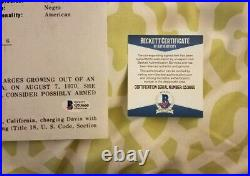 Angela Davis signed FBI Most Wanted 11x14 photo Beckett COA Q53660 Black Panther