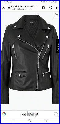 Autograph Leather Biker Jacket size 16