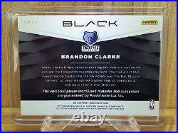 BRANDON CLARKE 2019-20 Panini Black Rookie Auto RPA RC Autograph SP /49 Ebay 1/1