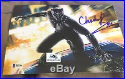 CHADWICK BOSEMAN AUTOGRAPH SIGNED 8x10 PHOTO BLACK PANTHER BECKETT