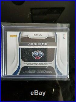 Card Zion Williamson auto Certified Freshman Fabric black jersey