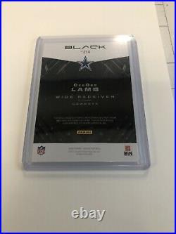 Ceedee Lamb Dallas Cowboys 2020 Panini Black RPA RC Auto / 2 Color Patch 54/99