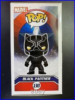 Chadwick Boseman signed Black Panther funko pop Marvel comics with COA autograph
