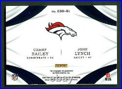 Champ Bailey-John Lynch 2019 Immaculate Dual Eye Black Autograph Card 5/15