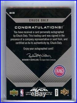 Chuck Daly 2007-08 UD Black Auto Autograph Pistons Coach #AU-CD 43/50