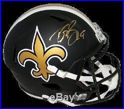 Drew Brees Autographed Signed New Orleans Saints Full Size Black Helmet Beckett